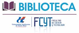 Bibliotecas. FCyT. UAdER